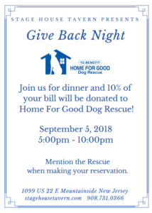 Give Back Night @ Stage House Tavern | Mountainside | New Jersey | United States